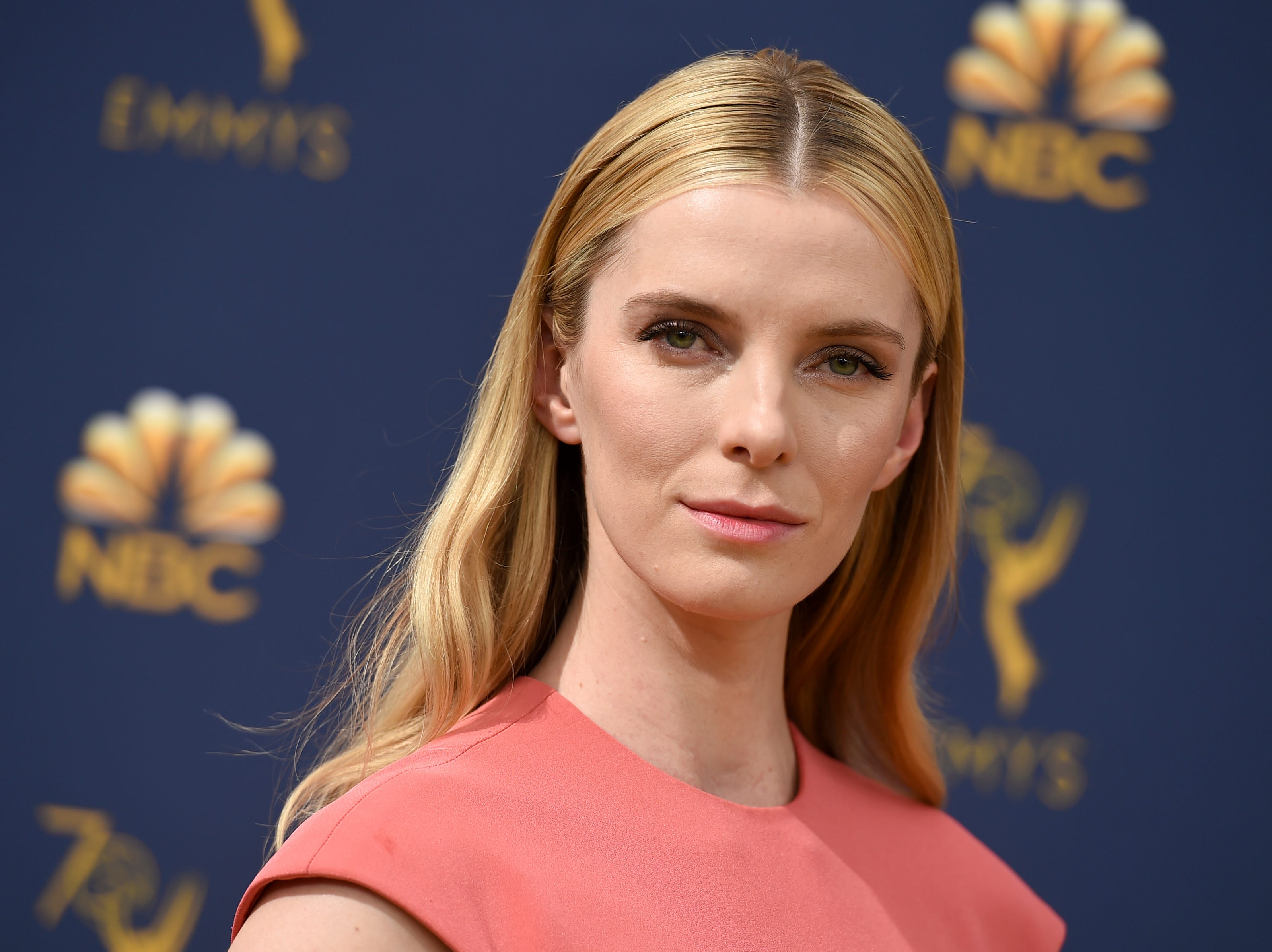 Betty Gilpin arrives at the 70th Primetime Emmy Awards on Monday, Sept. 17, 2018, at the Microsoft Theater in Los Angeles.