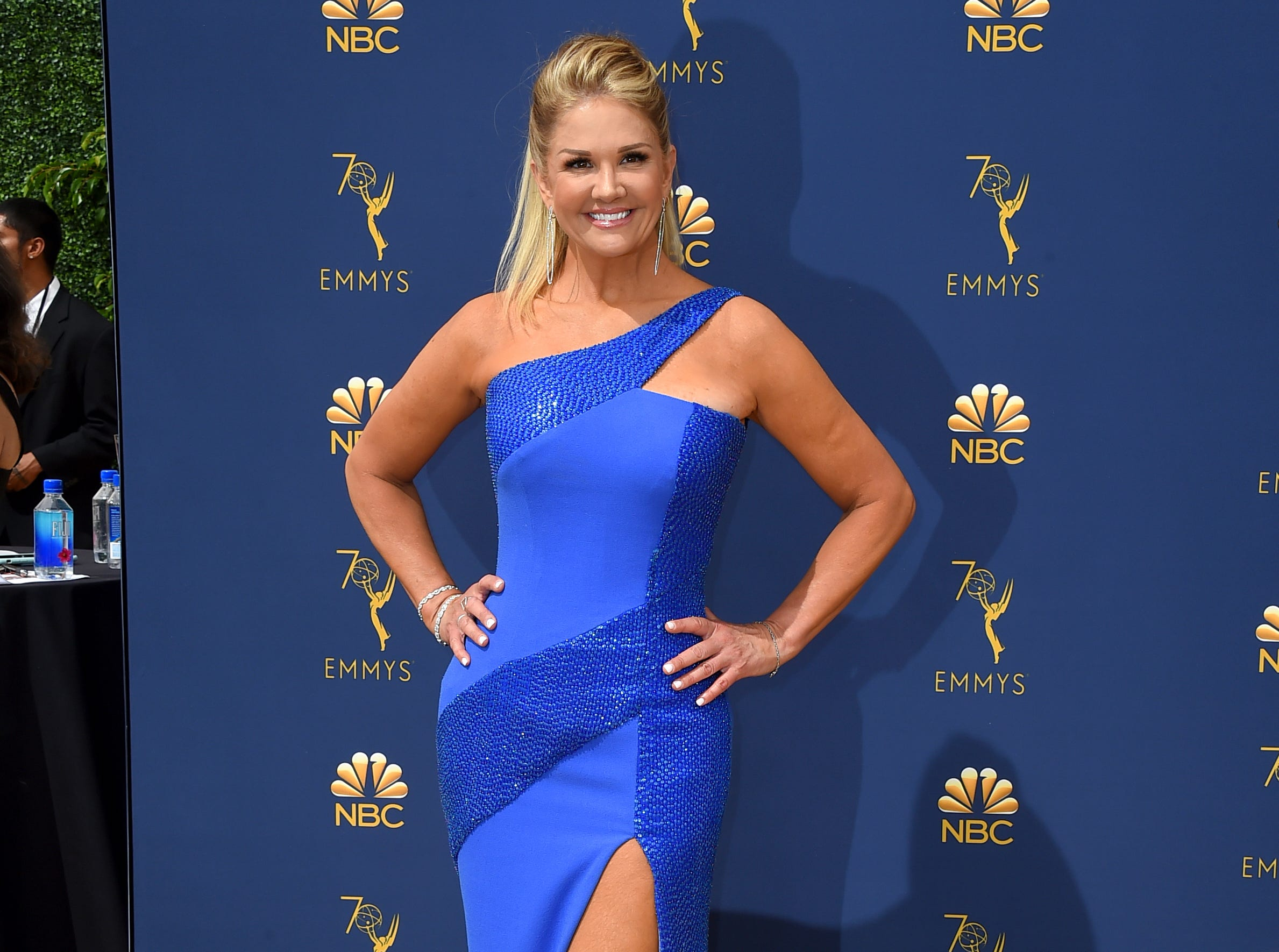 Nancy O'Dell arrives at the 70th Primetime Emmy Awards on Monday, Sept. 17, 2018, at the Microsoft Theater in Los Angeles.