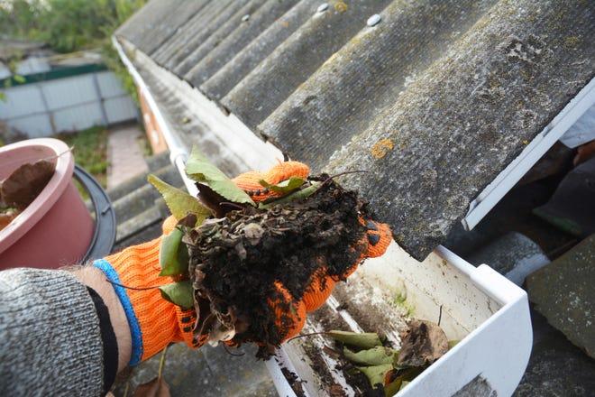 Gutter cleaning gets rid of leaf and debris buildup.