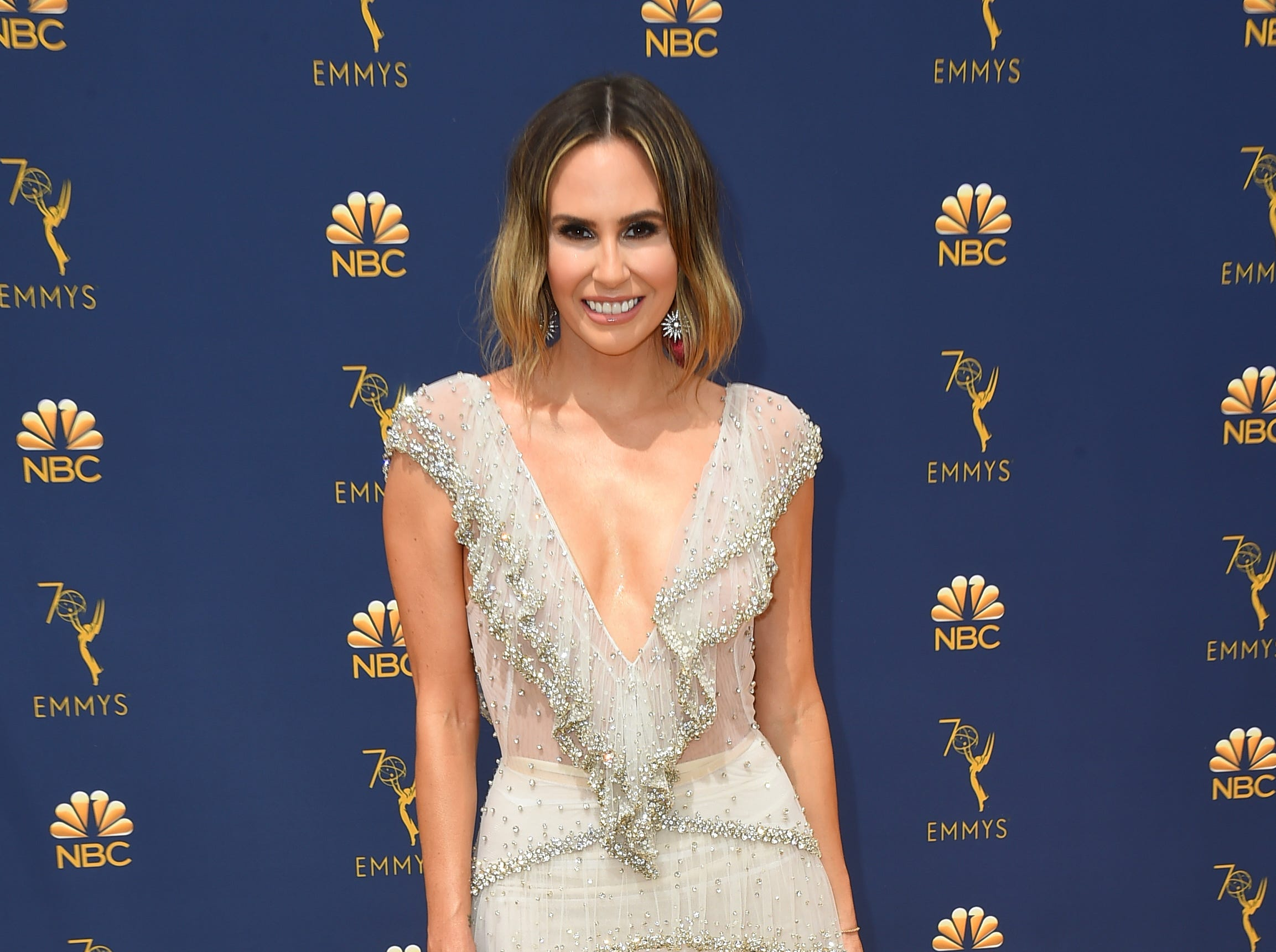 Keltie Knight arrives at the 70th Primetime Emmy Awards on Monday, Sept. 17, 2018, at the Microsoft Theater in Los Angeles.