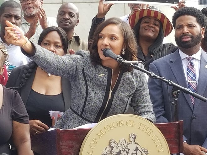 """City Council President Pro Tem Mary Sheffield revealed on Monday details on a series of legislation she calls the """"People's Bills"""" that seek to shrink the socio-economic disparities in the city of Detroit."""