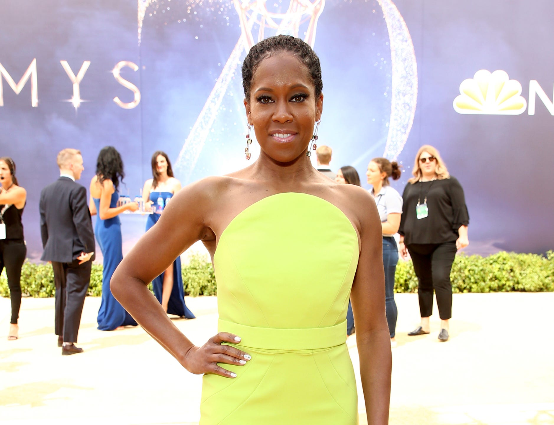 Regina King arrives at the 70th Primetime Emmy Awards on Monday, Sept. 17, 2018, at the Microsoft Theater in Los Angeles.
