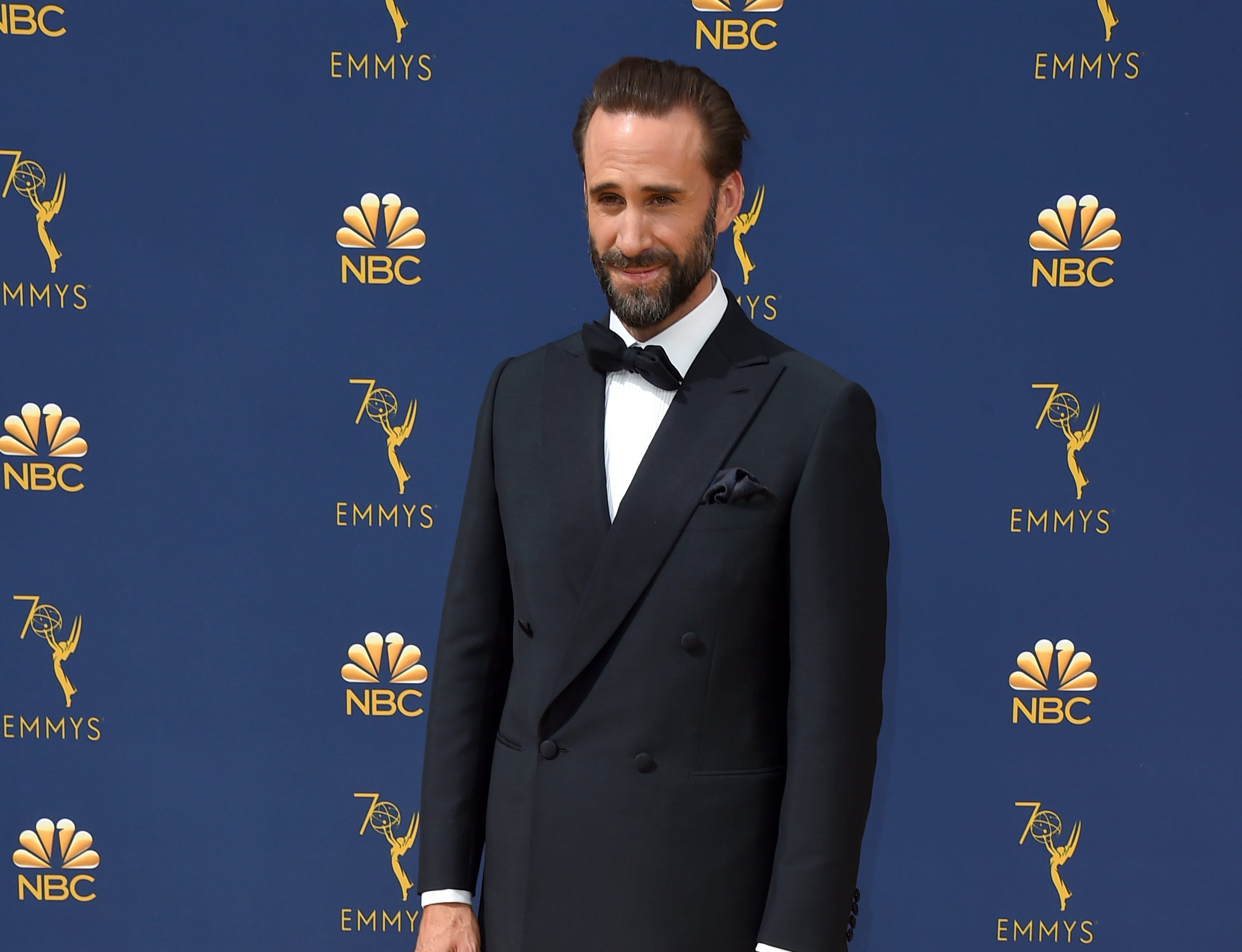 Joseph Fiennes arrives at the 70th Primetime Emmy Awards on Monday, Sept. 17, 2018, at the Microsoft Theater in Los Angeles.