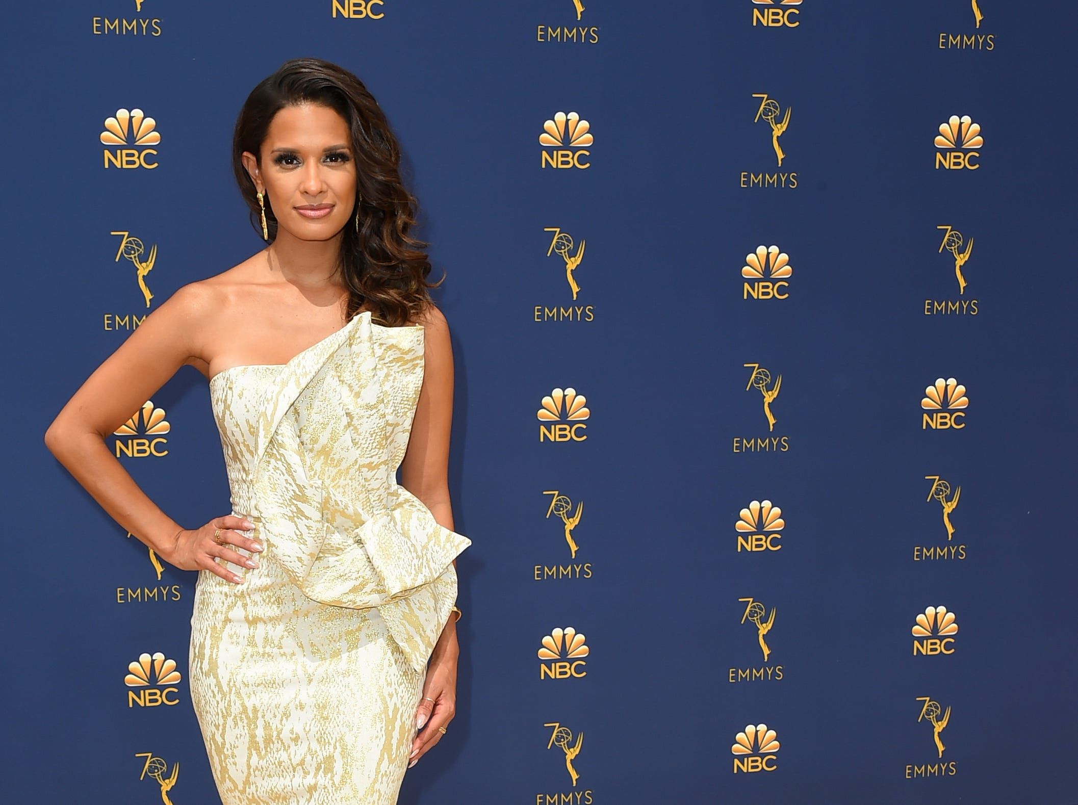 Rocsi Diaz arrives at the 70th Primetime Emmy Awards on Monday, Sept. 17, 2018, at the Microsoft Theater in Los Angeles.