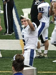Billy Rohan, 17, senior, safety for Horseheads Blue Raiders.