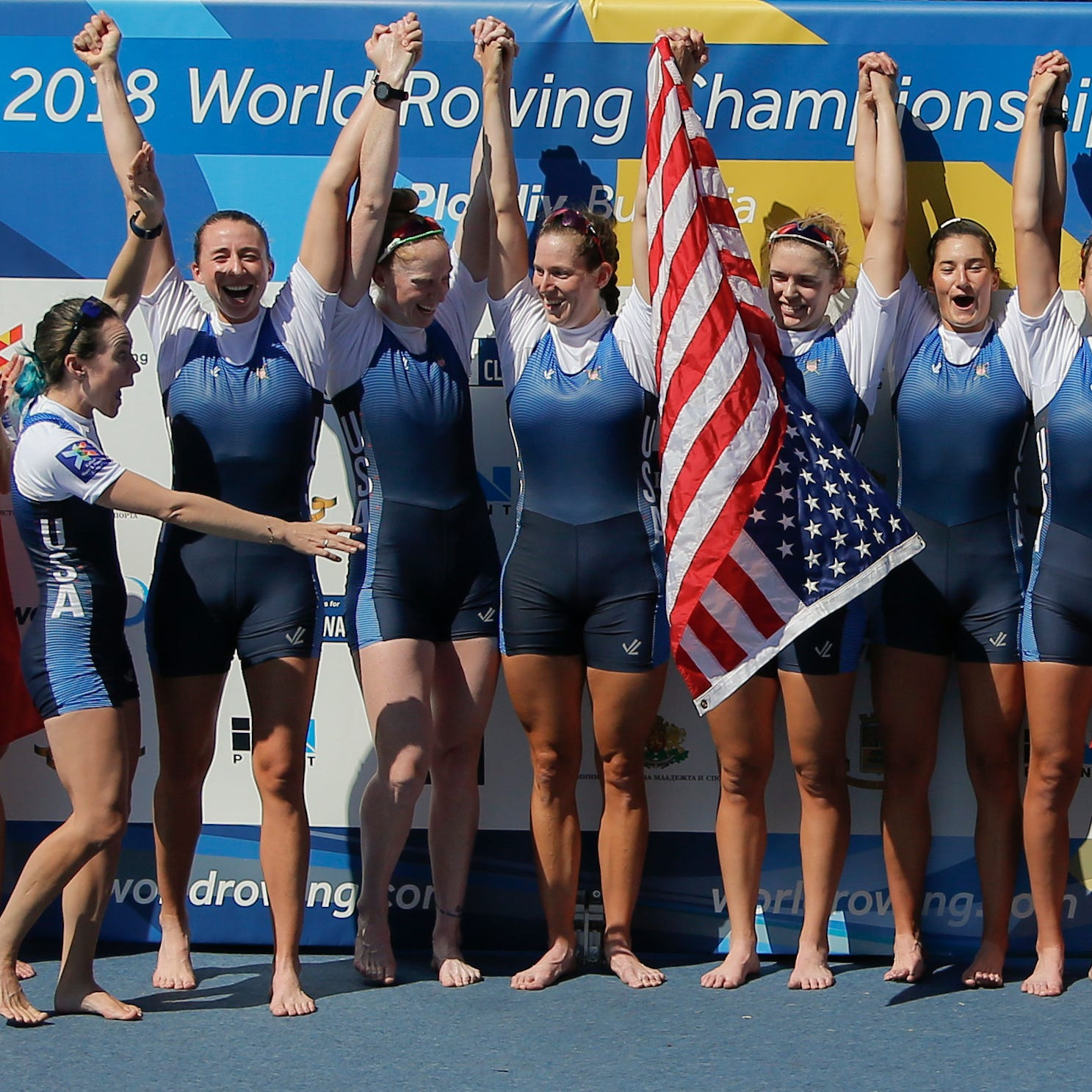 Olivia Coffey helps U.S. capture gold in women's eight at World Rowing Championships