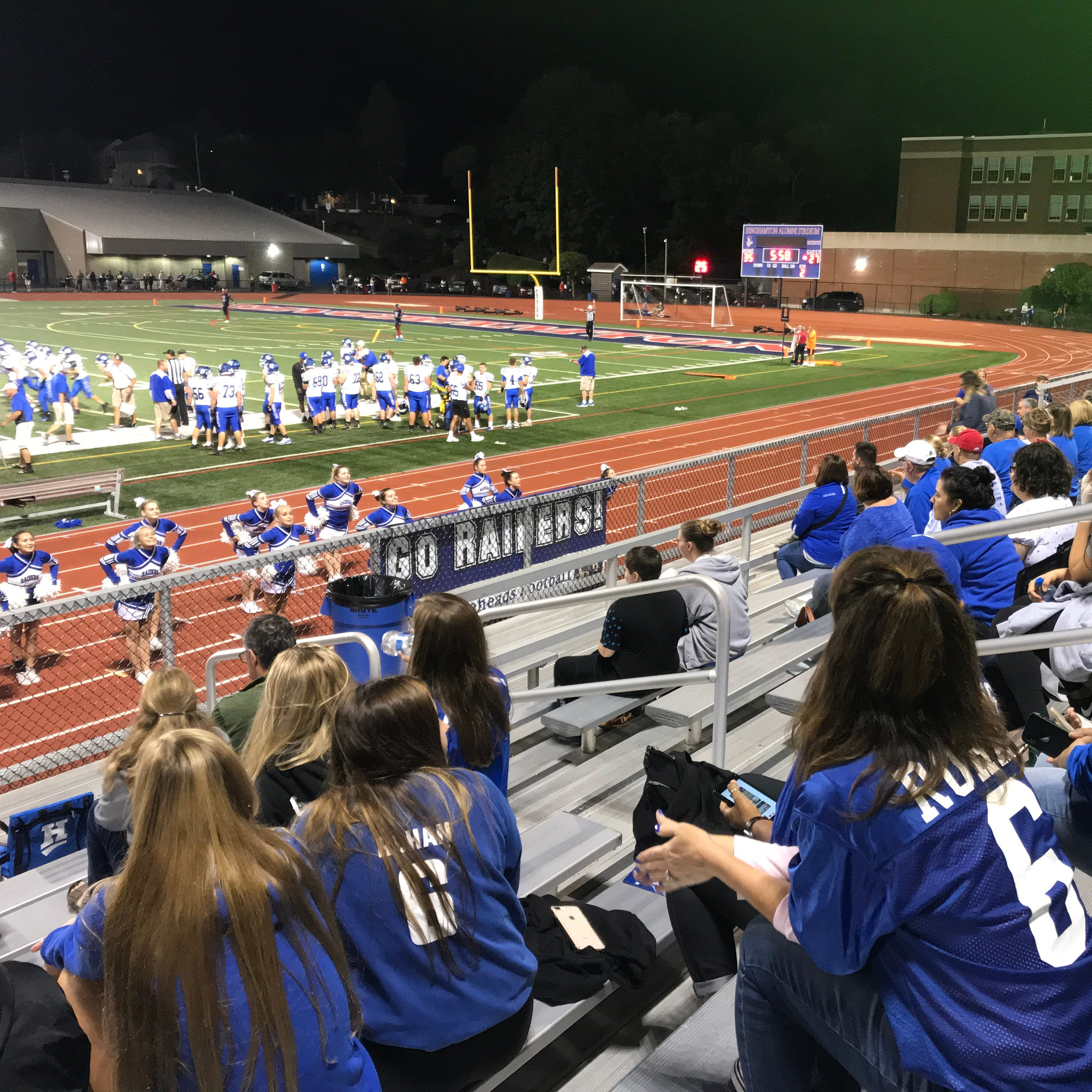 The 'Home Team': Billy Rohan's parents lead Horseheads fans on the sidelines