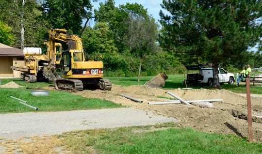Construction at the campgrounds at White Star Park include the Sandusky County Park District's $775,000 water/sewer extension project.