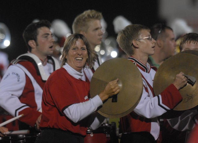 "The Port Clinton High School Alumni Band plays ""Hang on Sloopy"" at one of the school's previous Alumni Weekends."