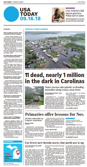 This is the USA TODAY page that should have been included in the Sept. 16, 2018, edition of the Fort Collins Coloradoan.