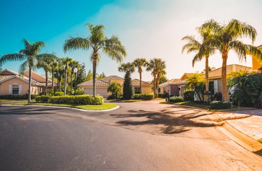 Gated Community Houses With Palms South Florida