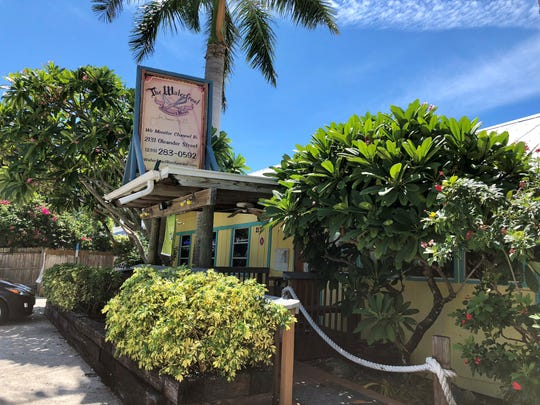 The Waterfront Restaurant is located on the southernmost tip of Pine Island.