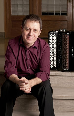 Stas Venglevski and his bayan, a Russian style of accordion, are in concert Sept. 23 at the Holiday Music Motel's Tambourine Lounge.