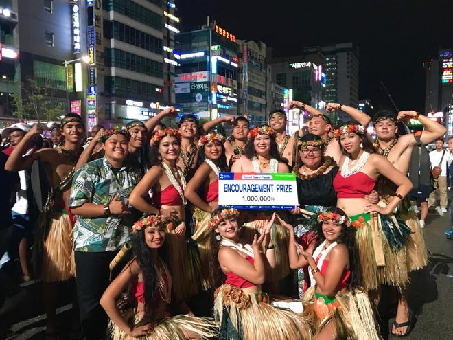 Guam also garnered the  encouragement award for their street parade performance. The 20 member delegation consists of students and young adults from Southern High School, Notre Dame High School, Guam Community College, and the University of Guam.