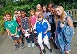 Holocaust survivor Eva Kor inspired students as they planted the Newfields' new Eva Kor Peace Garden.