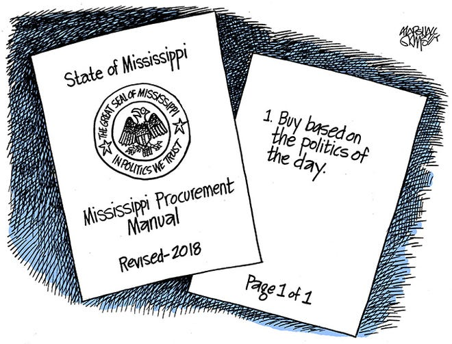 Mississippi's purchasing process goes political.