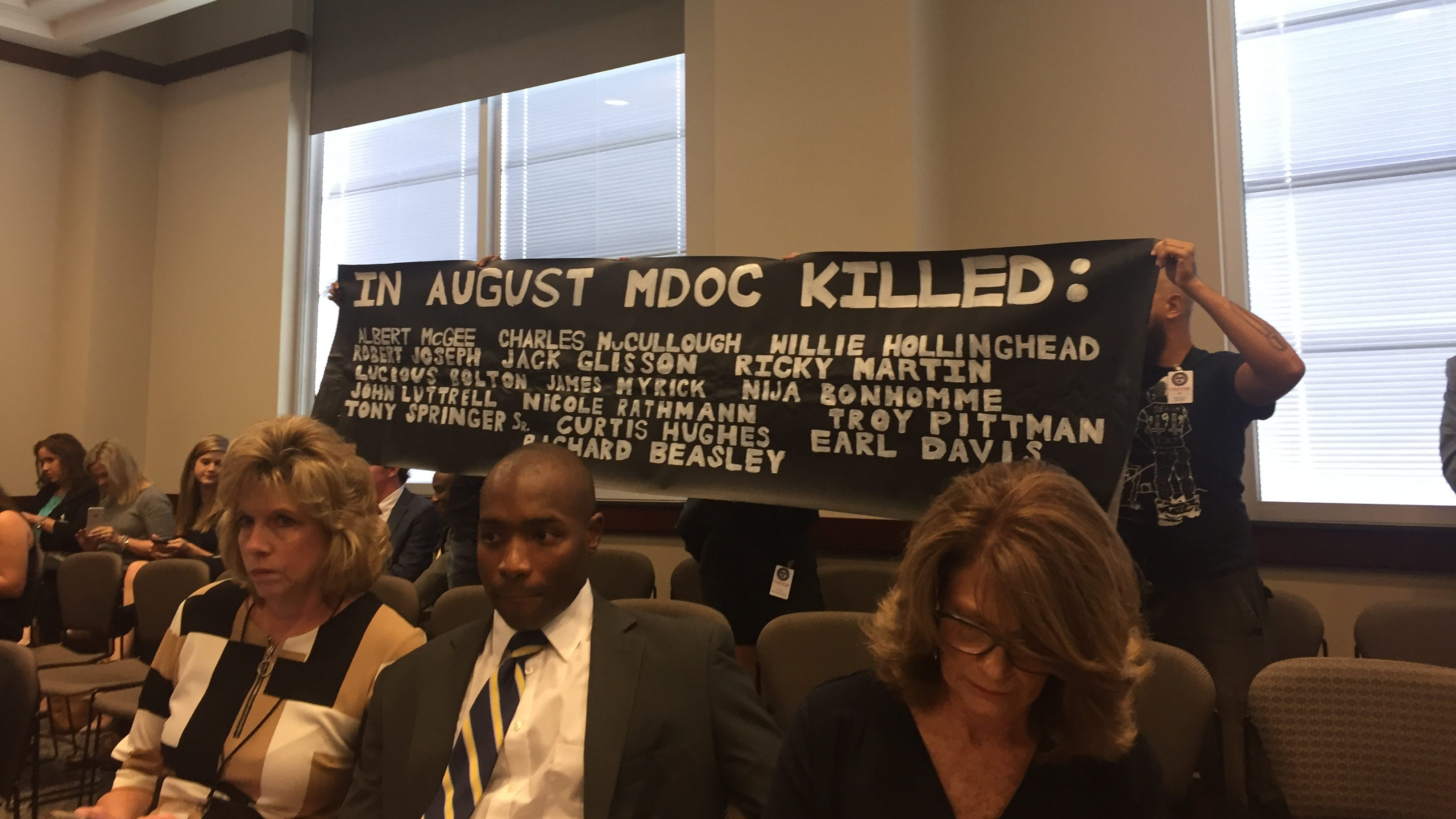 MDOC deaths: Protesters interrupt legislative budget hearings for Corrections department