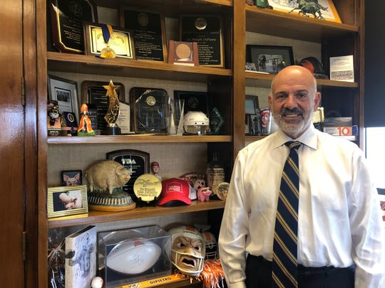 University of Tennessee President Joe DiPietro stands in his office Monday morning. DiPietro will end active employment Nov. 21 and officially retire Feb. 14.