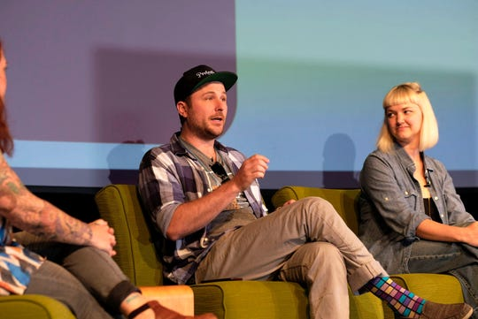 Matthew Cummings speaks on a panel at the 2017 Maker City Summit at The Mill & Mine.