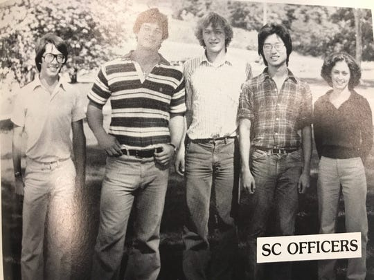 A 1980 Oak Ridge High School yearbook shows Bruce Ohr, second from right, with other student council officers. He was also a member of musical organizations and the Interational Relations club.