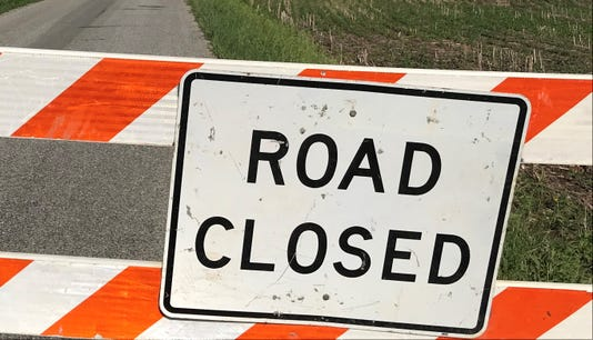 Road Closed Illustration