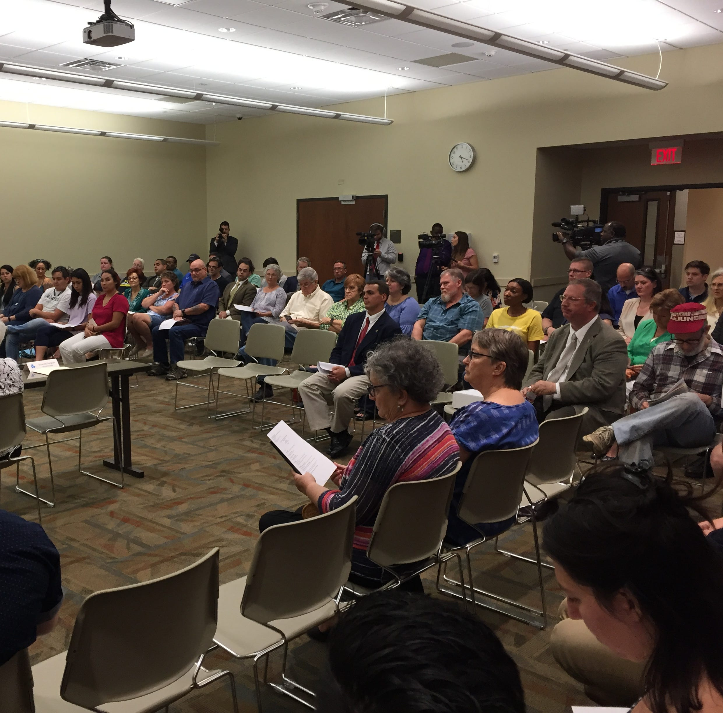 Library board meeting turns tense as drag queen story hour nears