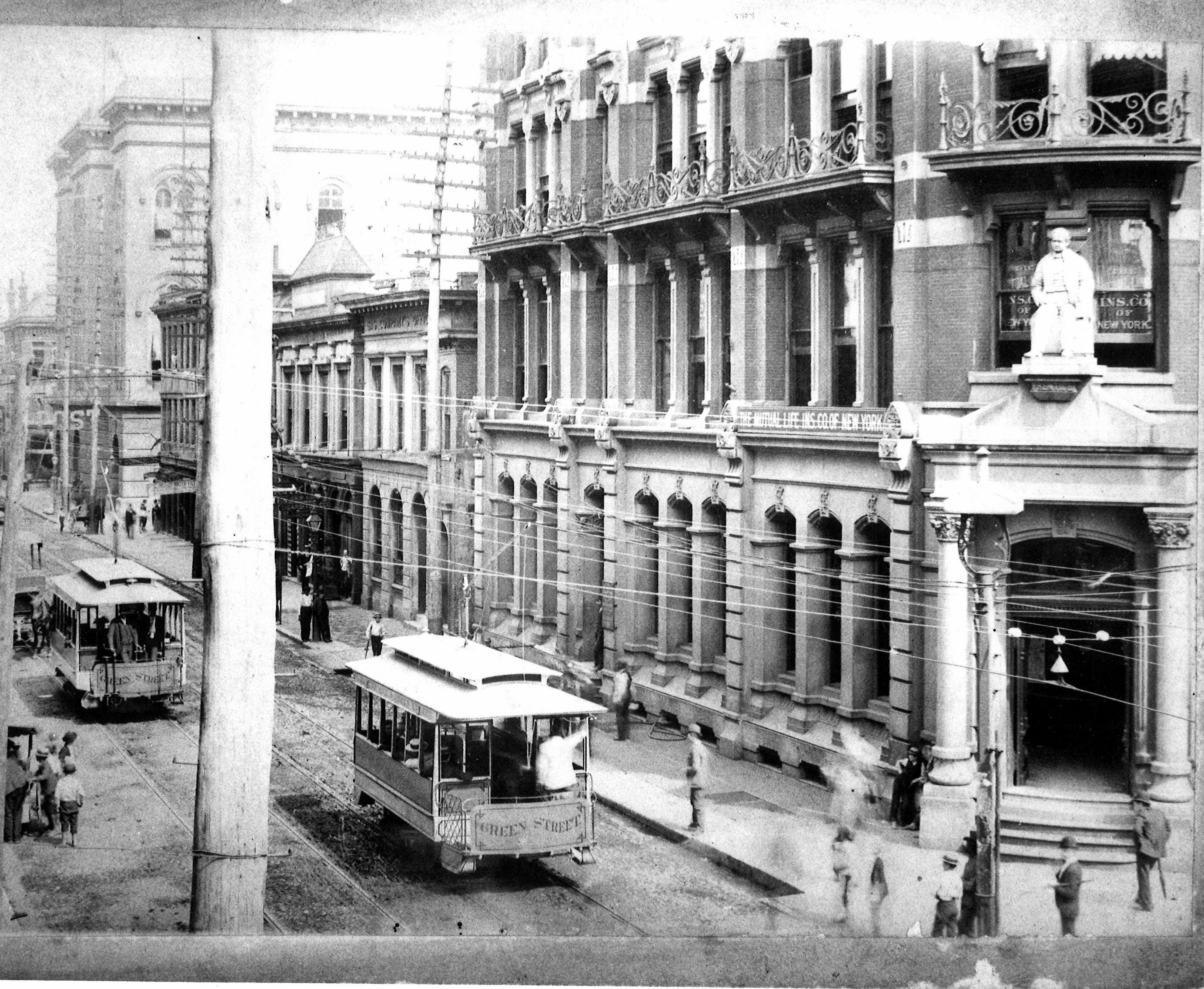 Old Courier Journal building, 4th and Green (now Liberty), undated