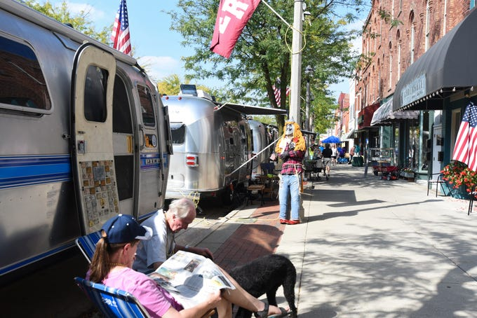 "The 7th annual Eaton Rapids Air event (formerly Urban Air) took place Sept. 13 - 15.  Over 100 Airstream motor homes lined Main St. in downtown Eaton Rapids.  This year's theme was ""Wizard of Oz,"" and campers decorated their home-away-from-home in regalia from the Wizard of Oz.\"