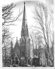 Plymouth Congregational Christian Church, located downtown from 1877 until 1971.