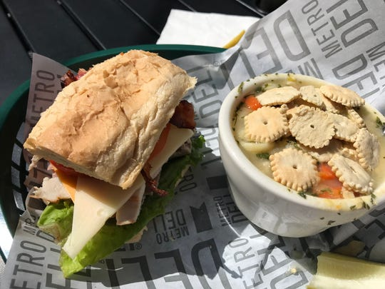 Soup and sandwich at Moore's Irish Pub
