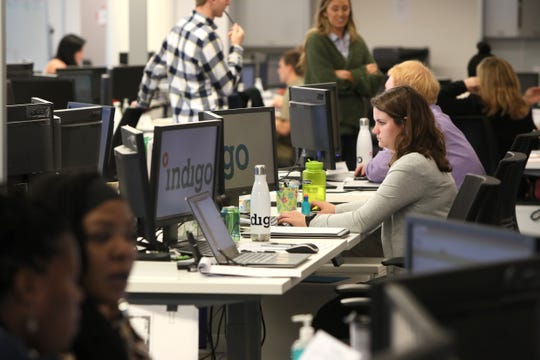More than 130 workers fill the Downtown office space of Indigo, which has launched a digital platform for buying and selling grain.