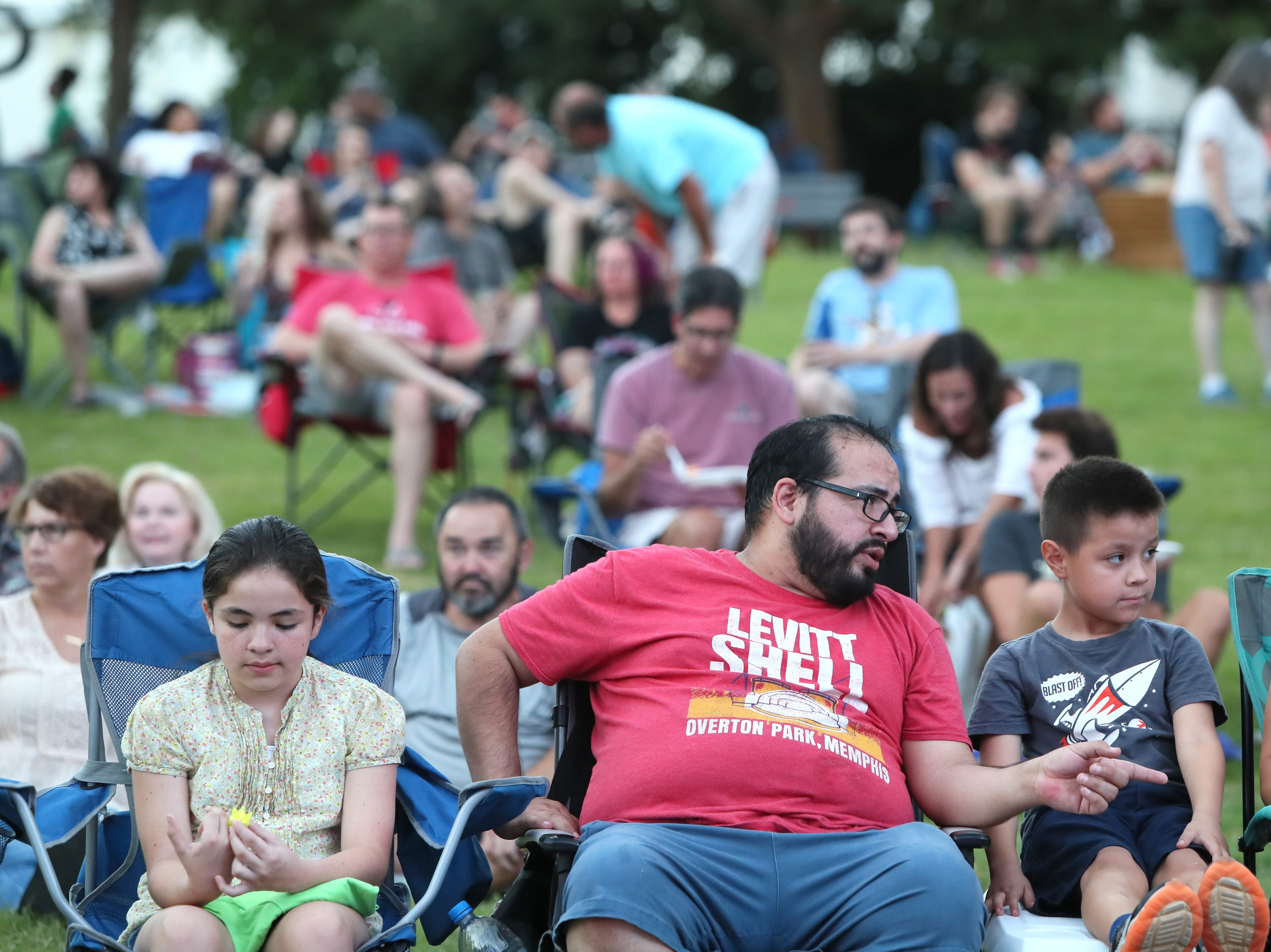 People gather at the Levitt Shell in Overton Park for the Fall Concert Series featuring the musical group Those Pretty Wrongs on Sunday, Sept. 16, 2018.
