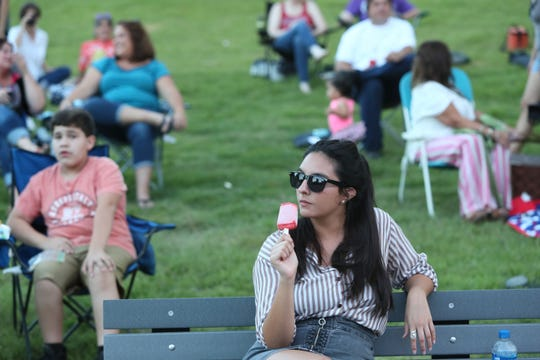 People gather at the Levitt Shell in Overton Park for the fall concert series featuring the musical group Those Pretty Wrongs on Sept. 16, 2018.