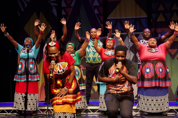 The Soweto Gospel Choir performs Nov. 15 at the South Milwaukee Performing Arts Center.