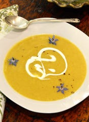 Apple and Parsnip Soup is rich and creamy.
