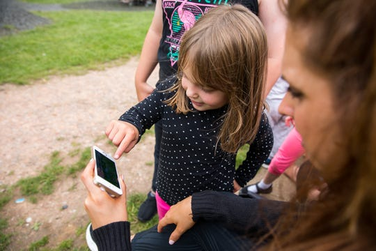 The Biba Adventures app encourages parents and kids to play together on the playground.