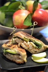 Granny Smith is a good apple choice for Chicken, Brie and Apple Panini.