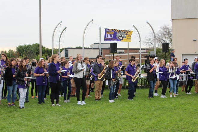 The Oconomowoc High School Band performed at the first-ever Raccoon Rally on Sept. 7.