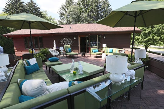 This upper-level patio is accessed through the master bedroom of the West Allis home.
