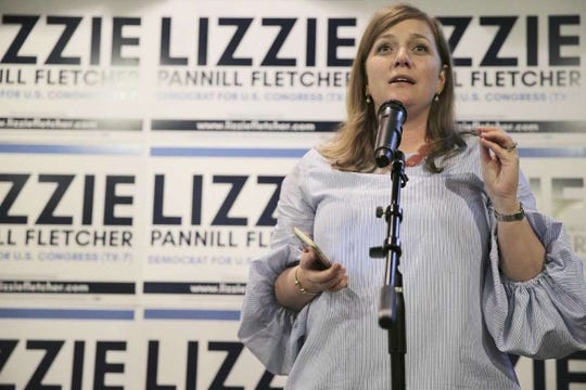 Lizzie Pannill Fletcher gives an acceptance speech during her election night party at Buffalo Grill on Tuesday, May 22, 2018 in Houston. Fletcher was in a runoff to be the democratic candidate for Texas' seventh congressional district against Laura Moser.