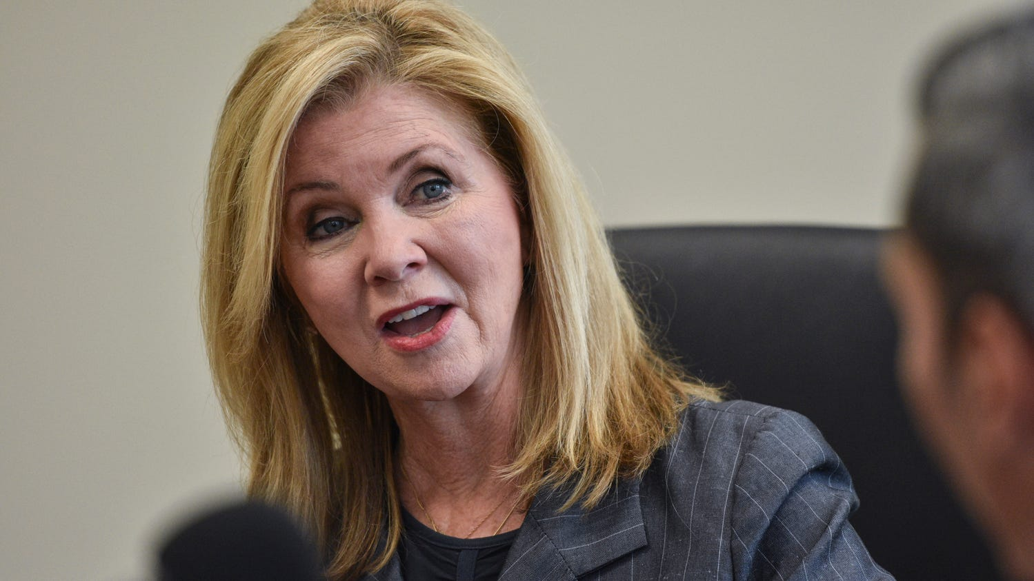U.S. Senate candidate Rep. Marsha Blackburn talks with The Tennessean Editorial Board on Monday, Sept. 17, 2018.