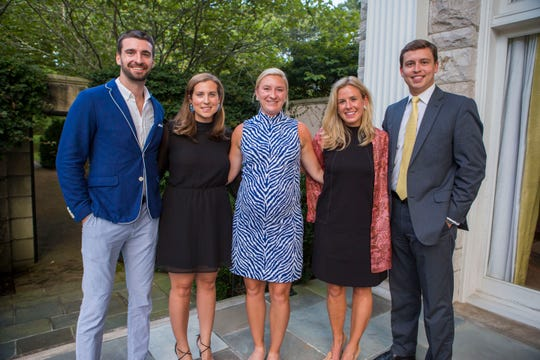 2018 Symphony Ball Late Party chairmen   Lucas Hagerty, left, Laurie Spradley, Catherine Grace, Janie Rolfe and Nick Deidiker at the Symphony Ball Prelude on Sept. 13.