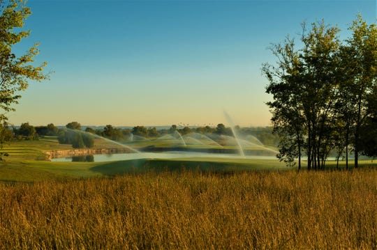 The course at Foxland Harbor is 7,200 yards. The course at Fairvue Plantation is 7,116 yards.