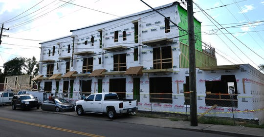 A new housing development is being built at the corner of Lischey and Douglas avenues.