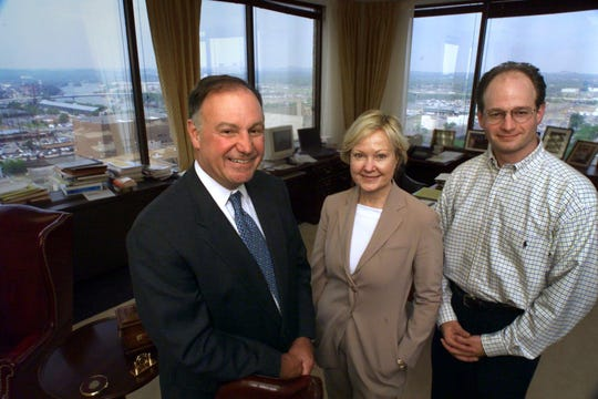 Chairman Denny Bottorff, CEO Katie Gambill  and Gary Peat, partner, of Council Capital in 2001.
