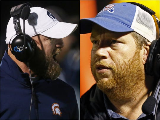 Summit coach Brian Coleman (left) and Page coach Charles Rathbone (right)