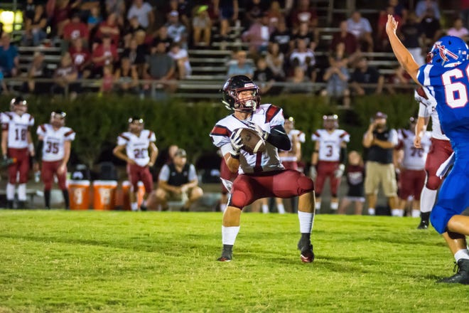 Cheatham junior receiver Dawson Primm with a reverse and pass.