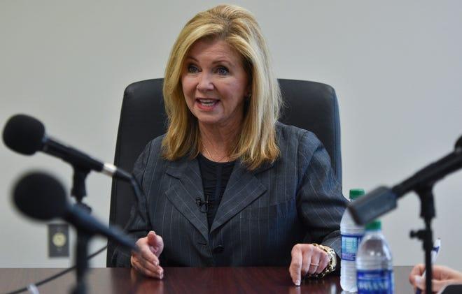 U.S. Senate candidate U.S. Representative Marsha Blackburn talks with The Tennesssean editorial board on Monday, Sept. 17, 2018.
