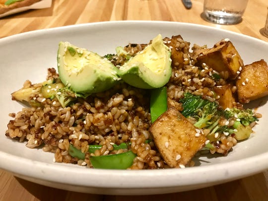 The teriyaki quinoa bowl with tofu at True Food Kitchen.
