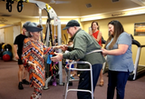 Frank Montemurro has rehabbed aftersurvivingtwo strokes, with the goal of improving his mobility enough to dance withhis significant other on his 87th birthday.